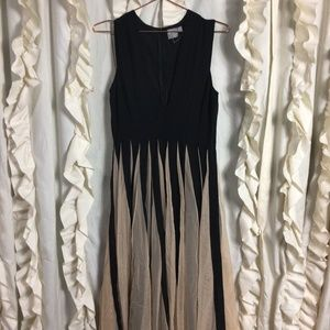 NWOT ASOS Black Nude Fit and Flare Dress